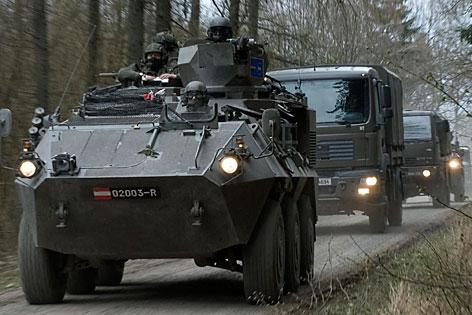 Gepanzerter Transportkonvoi der Bundesheeres