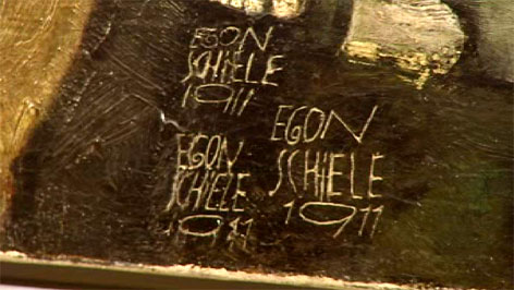Signatur von Egon Schiele