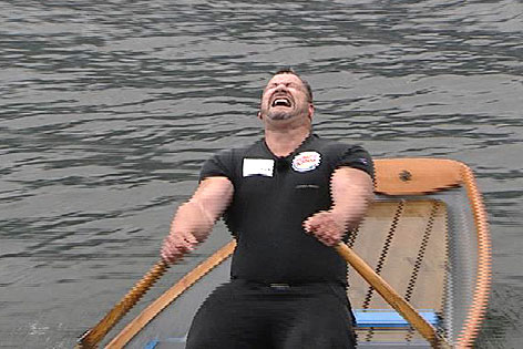 Martin Hoi Weltrekordversuch MS Ossiach Ruderboot