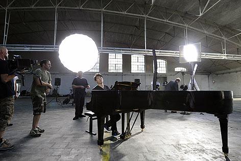 Dreharbeiten zu Lang-Lang-Video