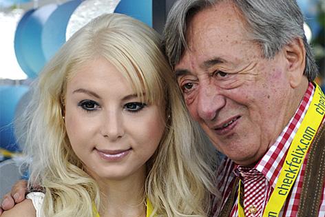 Richard Lugner und Anastasia Sokol