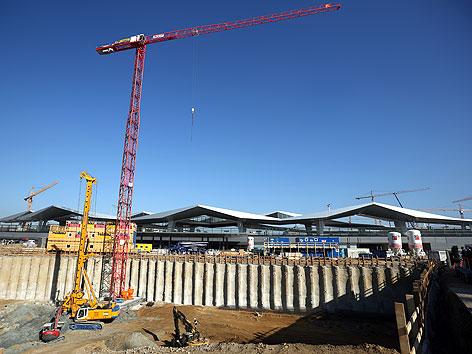 Baustelle der neuen ÖBB-Konzernzentrale am Hauptbahnhof