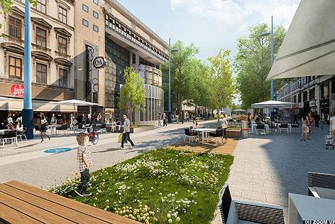 Grafik der neuen FUZO Mariahilfer Straße