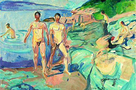Edvard Munch, Badende Männer, 1915