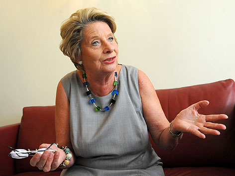 Ursula Stenzel bei einem Interview im August 2012