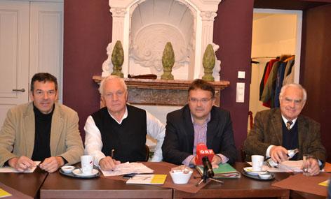 Georg Willi, Gerald Hauser,  Fritz Dinkhauser und Ulrich Stern