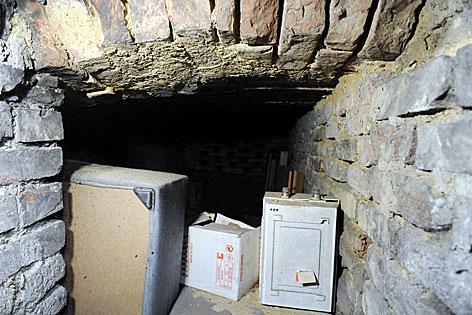 Blick in das Kellerabteil