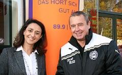 Leila Mahdavian und Udo Huber