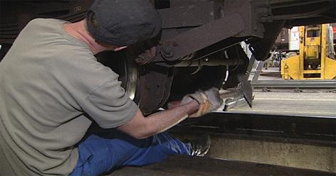 ÖBB-Werkstätte Waggon Revision Güterwaggon