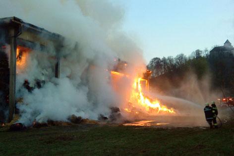 Lagerhallenbrand in Vogau