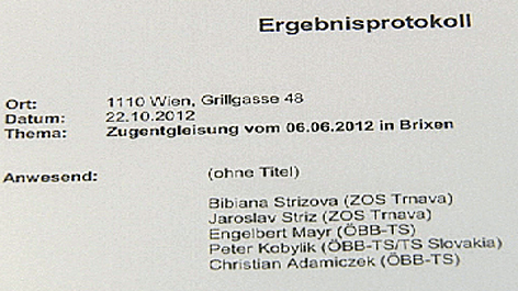 ÖBB-Skandal in Südtirol Brixen Bressanone Dokumente