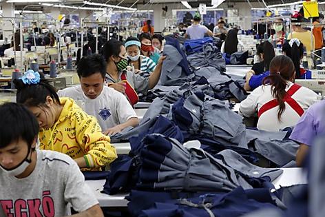 Textilfabrik in Laos