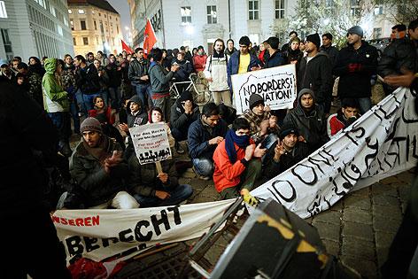 Protestmarsch Asylwerber