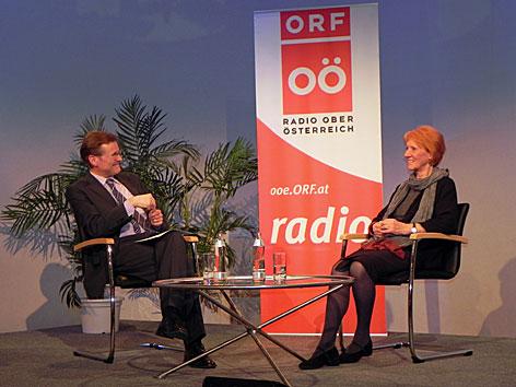 Johannes Jetschgo und Marga Persson bei Treffpunkt Kunst