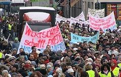 Demo der Salzburger Landesbediensteten