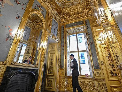 Prunkräume im einstigen Winterpalais von Prinz Eugen (früheres Finanzministerium) in der Himmelpfortgasse in der Wiener Innenstadt