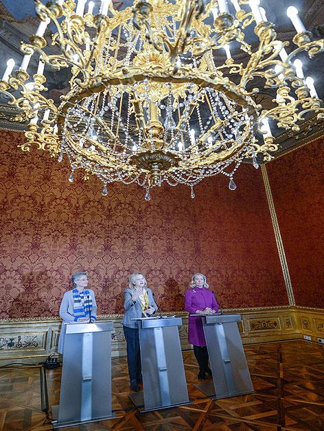 Pressekonferenz mit Finanzministerin Fekter, Kulturministerin Schmied und Belvedere-Direktorin Husslein-Arco im früheren Finanzministerium in der Himmelpfortgasse