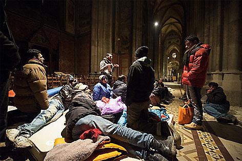 Camper in der Votivkirche