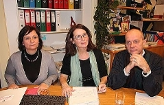 LAbg. Claudia Klimt-Weithaler, Stadträtin Elke Kahr, LAbg. Werner Murgg