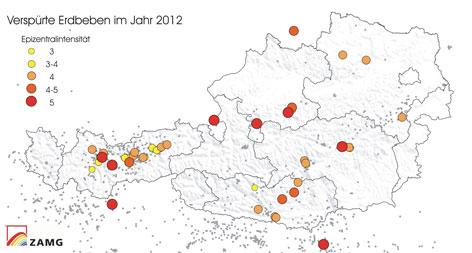 Die meisten Erdbeben waren in Tirol - tirol.ORF.at