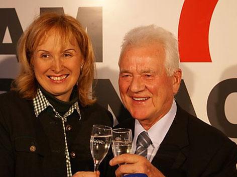 Karin Prokop und Frank Stronach