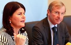 Landeshauptfrau Gabi Burgstaller und ihr Stellvertreter Wilfried Haslauer