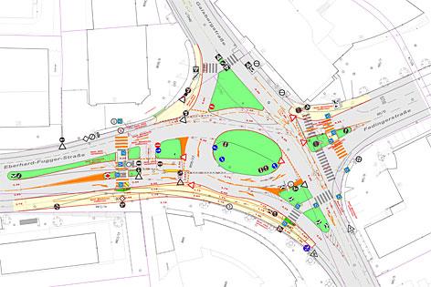 Plan für den Umbau der Eder-Kreuzung