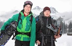 Die beiden geretteten Schneeschuhwanderer aus Sachsen