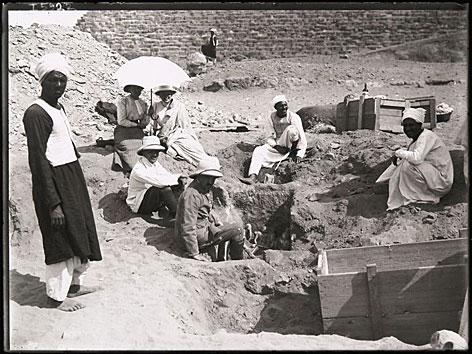 Bild der Ausgrabung in Giza