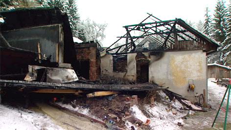 Ausgebranntes Haus in Neufelden