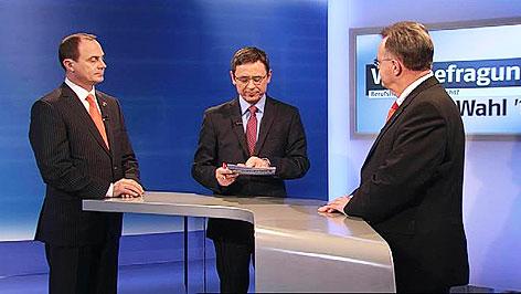 Franz Steindl, Walter Schneeberger, Hans Niessl