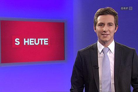 """Lukas Schweighofer, Moderator von """"Salzburg heute"""""""