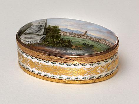 Schnupftabakdose mit Ansicht von Wien, 1800