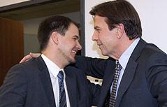 Nationalratsabgeordneter Michael Schickhofer und der steirische SPÖ-Chef Landeshauptmann Franz Voves