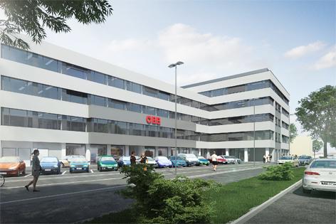 Geplantes ÖBB-Verwaltungsgebäude in St. Pölten