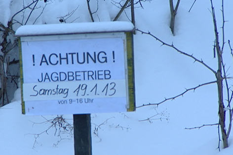 """Schild """"Vorsicht Jagd"""""""