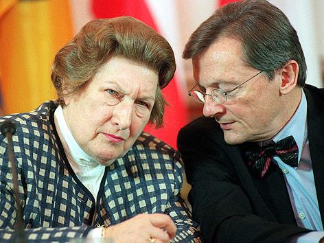Ex-Kanzler Wolfgang Schüssel und Ex-OeNB-Präsidentin Maria Schaumayer