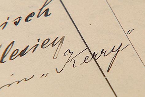 """Schriftzug """"Kerry"""""""