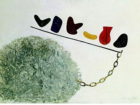 Meret Oppenheim Husch-Husch, der schönste Vokal entleert sich, 1934 Sammlung Bürgi
