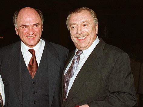 Erwin Pröll und Michael Häupl beim 50. Geburtstag von Pröll im Dezember 1996