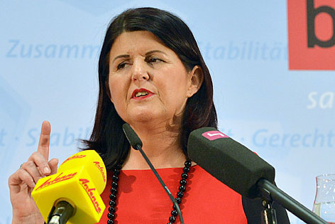 Gabi Burgstaller bei Wahlrede