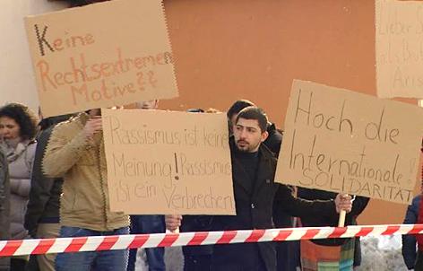 Demo vor Pizzeria