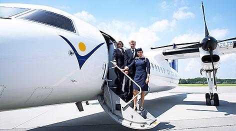 InterSky Friedrichshafen Flugzeug Jet Dash 8