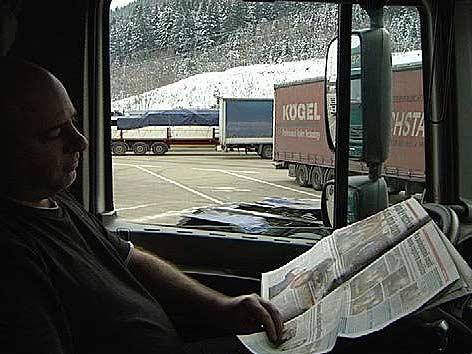 Lkw Fahrer Zeitung Fahrverbot