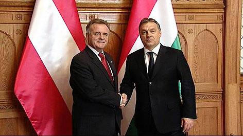 Hans Niessl und Viktor Orban