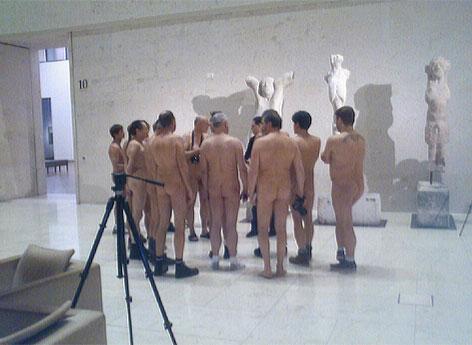 Nackte Männer im Leopold Museum