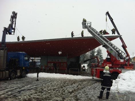 Schneelast Dach Räumung
