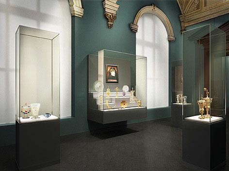 Ausstellungsansicht der neuen Kunstkammer