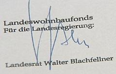 Gefälschte Unterschrift von Landesrat Walter Blachfellner