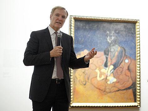 Albertina-Direktor Klaus Albrecht Schröder bei der Pressekonferenz zur Max Ernst-Ausstellung